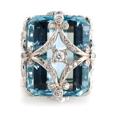 Erica Courtney - This Aqua ring is so Erica incorporating the option to personalize the setting with your initials.