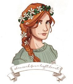 art by emmilinne — ginny: shamrock for a light heart
