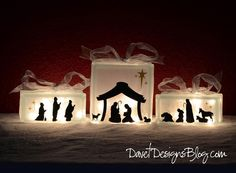 Make your nativity set unique this year with this complete trio vinyl set. The manger scene is perfect size to fit on a 8x8 KraftyBlok or glass block cube. Once applied to your cube, you can frost the glass with a coat of frosting acrylic sealer to give it a winter frosted look. | eBay!