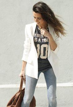 Zara Blazers, Bershka Jeans and Pull & Bear Camisetas