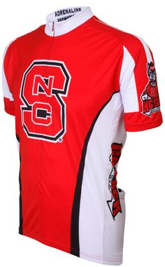 NC State Wolfpack Cycling Jersey Free Shipping - see it at http://www.cyclegarb.com/cocyje.html