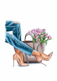 Fashion illustration - fashion art print - gifts for her - floral art - fashion artwork - bes. - Fashion illustration – fashion art print – gifts for her – floral art – fashion artwork – - Mode Chanel, Modelos Fashion, Girly Drawings, Fashion Artwork, Spring Art, Illustration Art, Illustration Fashion, Fashion Illustrations, Flower Art