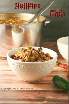 Hellfire Chili! Hubby and I would love this filled with habanero, cayenne, serrano, anaheim and jalapeno peppers. Yum!