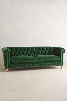 Anthropologie - Velvet Lyre Chesterfield Sofa- several colors