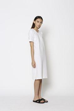 5412-02 Draw The Line Tee Dress Oatmeal – Blak