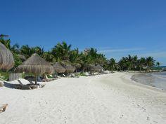 "Ahhhh, pristine view of the beach from my ""palapa"", Mexico yoga retreat w/Infinite Yoga"