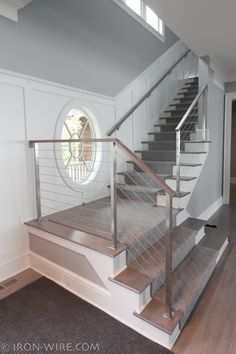 Stair Railing - We underwent a great deal of considerations before shooting on anything related to the stairs. We disputed cable television railing, tiling the risers, vertical vs horizontal railings, walk coverings, and so on