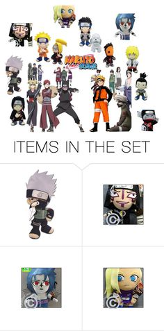"""""""Naruto cuddly!!"""" by laurablima-1 ❤ liked on Polyvore featuring art"""