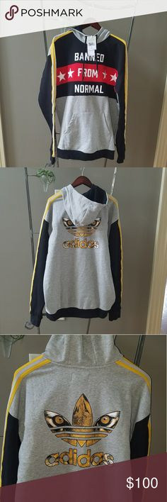 Adidas Rita Ora Banned sweatshirt NWT Sold out! L Brand new with tags, perfect condition, sold out everywhere. Size large. The tiger graphic on the back is amazing! Always authentic and I keep all my receipts from purchases. See pictures for detail. No trades. No transactions outside of Poshmark, thanks! From a smoke-free environment. Price is firm! Adidas Tops Sweatshirts & Hoodies