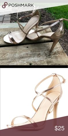 Charlotte Russe Heels Size 6. Brand new, never worn. Rose gold heels. Feet are too wide. Charlotte Russe Shoes Heels