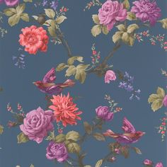 Step in to paradise with this stunning oriental design. Featuring wild birds and blooming flowers on such a contemporary and quirky colour palate, this wallpaper would look breath taking on all four walls or as a feature piece in your home.