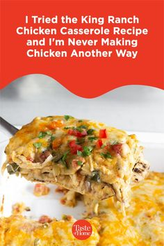 The creamy and cheesy King Ranch chicken casserole is famous in Texas, but it might be a new recipe for folks like me who live outside the South. I decided it was time to see what all the hype was about and whip up a King Ranch casserole at home in Vermont. #comfortfood #dinner #dinnerideas #dinnerrecipe King Ranch Chicken Casserole, Delicious Dinner Recipes, Cream Of Chicken Soup, Creamed Mushrooms, Comfortfood, Casserole Recipes, Vermont, New Recipes, Texas