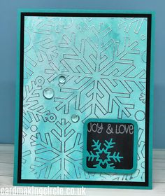 Modern Christmas Card made with the Outline Snowflake background stamp from Simon Says Stamp Snowflake Stencil, Snowflake Cards, Modern Christmas Cards, Christmas Cards To Make, Snowflake Background, Matching Cards, Card Making Techniques, Greeting Cards Handmade, Paper Design