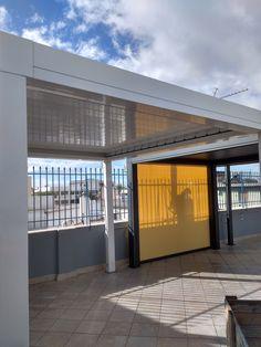 SKYLINE: Το ολοκληρωμένο σύστημα σκίασης σε μορφή πέργκολας με υδατοστεγανά πτερύγια τα οποία κινούνται με τηλεχειριστήριο εναρμονίζεται πλήρως με κάθε αρχιτεκτονικό στυλ  #floros Garage Doors, Skyline, Shades, Outdoor Decor, Home Decor, Decoration Home, Room Decor, Sunnies, Home Interior Design