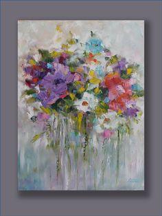SALE Colorful Oil Painting Original Contemporary por MGOriginalArt