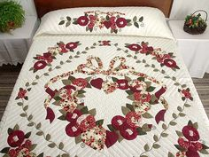 Amish Country Quilts | Country Love Quilt -- great cleverly made Amish Quilts from Lancaster ...