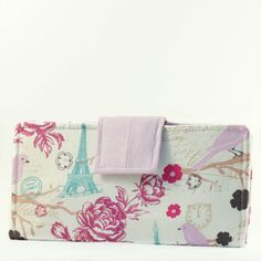 Paris Slim Card Wallet / Womens Bifold Wallet by SNSewingBoutique