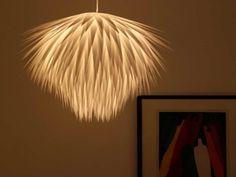 DIY paper starburst pendant light