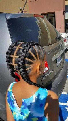 braids hairstyles and cornrows pictures kids braided hairstyles 22 Mind Blowing Braid Hairstyles for your next look Little Girl Braids, Black Girl Braids, Braids For Kids, Girls Braids, Kid Braids, Braids Easy, Toddler Braids, Children Braids, Simple Braids