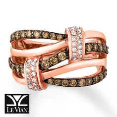 LeVian Bridal Setting 58 ct tw Diamonds 14K Strawberry Gold