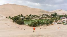 Oasis y Laguna de la Huacachina en Perú  http://aristofennes.com/huacachina-peru-viaje-ica-al-oasis/