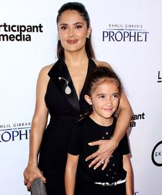Salma Hayek and her daughter are two beautiful peas in a pod.