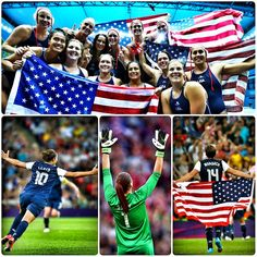 USA Women's Water Polo and Soccer = Gold Medals