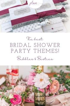 Plan the perfect bridal shower! Here are the BEST themes for 2021 / Bridal shower ideas / How to plan a Bridal Shower / Bridal Shower Inspiration / Lemon Bridal Shower / Garden / Southwest / Aloha / Something Blue / Tiffany's / Chanel / Adventure Awaits / Pearls of Wisdom Bridal Shower / Harry Potter / Friends Series / Pastel & Floral / Blush & Gold / Fiesta / Bohemian / Tea Party / Black & White Glam / Vogue Lingerie / Bubbles & Besties / Vintage Glamour / Scooped Up / Mint to Be / Rustic…