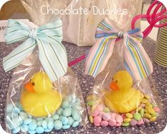 Chocolate and Rubber Ducks.. great favors for kids!