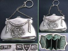Edwardian silver visiting purse hallmarked Chester 1909 - Sigh.