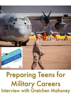 Homeschool Highschool Podcast Ep Preparing for Military Careers, Interview with Gretchen Mahoney. Got at teen interested in the military? Join us for some ways to help them prepare. High School Subjects, High School Years, In High School, High School Students, High School Curriculum, Writing Curriculum, Homeschooling, Military Careers, Military Mom