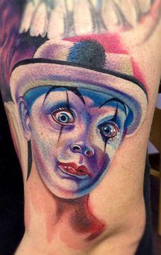 Tattoo Artist - Mike Ats | www.worldtattoogallery.com/clown_tattoo