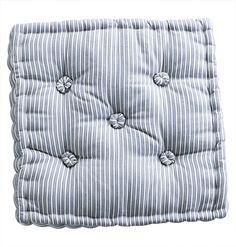 Tine K Home / Sedák na stoličku Blue striped Coffee Sacks, Futon Mattress, Bella Rose, Chair Pads, Ticks, Blue Stripes, Indigo, Blues, Mens Tops