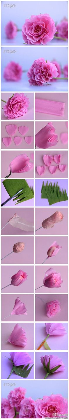 DIY Tissue Rose Tutorial