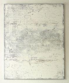 https://flic.kr/p/oXKcEB | Bild_1404_white_grey_brown_painting_100_80_cm_mixed_media_mud_paper_on_canvas_2014