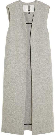 Grey Sleeveless Coat by Topshop. Buy for $430 from NET-A-PORTER.COM