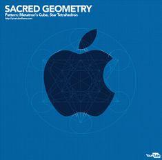 Sacred Geometry in Apple Logo Graphic Design Fonts, Web Design, Logo Design, Golden Ratio, Apple Logo, Sacred Geometry, Typo, Cool Designs, Symbols