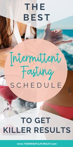 [orginial_title] – The Mindful Pursuit The Best Intermittent Fasting Schedule To Get Killer Results Have you been wondering what the best intermittent fasting schedule is for you, especially when it comes to weight loss? This will help! Weight Loss Plans, Best Weight Loss, Weight Loss Help, Weight Loss For Women, Losing Weight Tips, Lose Weight, Reduce Weight, Lose Fat, One Week Diet