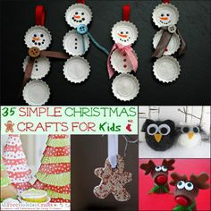 You can complete most of the projects in this collection of 35 Simple Christmas Crafts for Kids in one sitting, some in less than an hour.