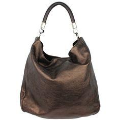 Yves Saint Laurent Pebbled Leather Hobo ($425) ? liked on ...