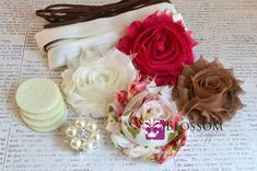 DIY Headband Making Kit  Spring Floral by blossomsupplies on Etsy, $6.50