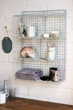 Inspired by retro locker room shelves this shelving unit is the perfect storage solution for the style conscious The Metal Shelving unit measures