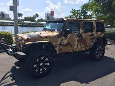 Chocolate Chip Desert Camo Jeep Wrangler