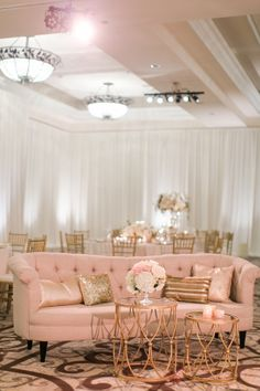 A glamorous blush, ivory and gold wedding St. Regis Monarch Hotel, including Amanda Stanton from ABC's The Bachelor as a bridesmaid.