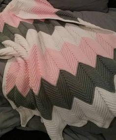 Chevron Blanket Chevron Afghan Crochet Blanket Chevron