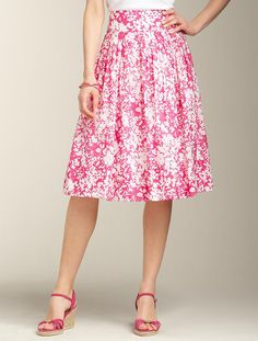 Talbots - Abstract Floral Cotton Full Skirt | | Apparel