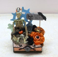 Altered Balsa Box - Spooky - Designer: Deb Edwards