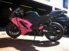 kawasaki ninja 300 pink...when I was a kid I wanted a ninja...might have to buy one day  :-)))