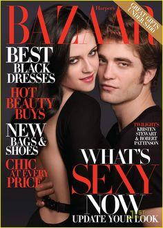 Bazaar  Kristen Stewart and Robert Pattinson he is sexy now! KS( my initials too hee hee) can dress up okay.