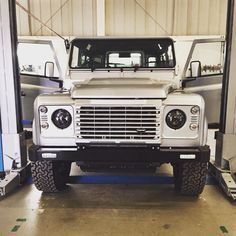 Work in progress at Twisted HQ.  #TwistedDefender #Work #Workshop #Handcrafted #Detail #Customised #Value #Defender #LandRover #LandRoverDefender #WIP #Time #Style #Production #Product